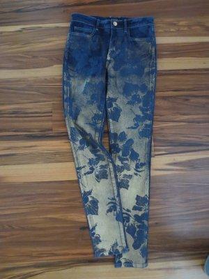 NEUE Guess Jeans mit Gold Blumen, Gr. 27, Model 1981 Skinny High