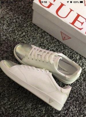 Guess Sneaker alta bianco-argento