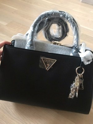 Guess Borsa con manico nero-color cammello Pelle