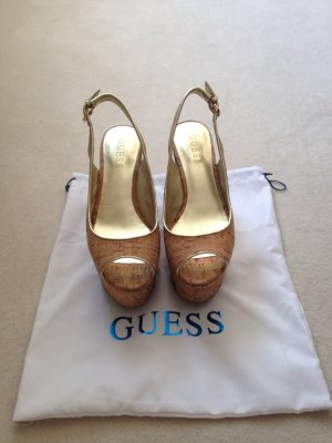 Guess Sandalias de tacón color oro-color plata