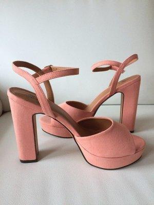 H&M Sandales à talons hauts et plateforme rosé-vieux rose