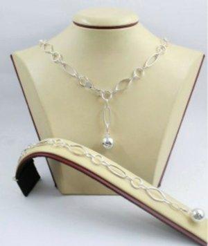 Neue Halskette mit Armband Silber 925