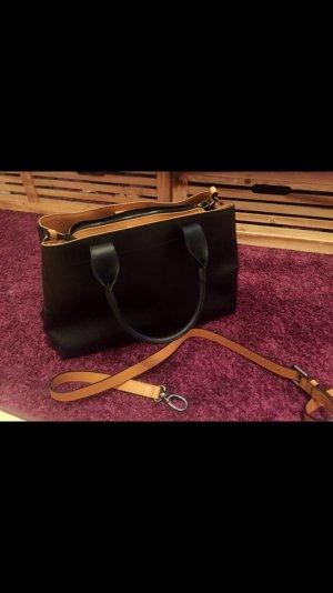 Neue Handtasche schwarz/beige