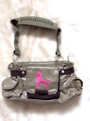 NEUE Handtasche von Poodlebag in oliv-metallic