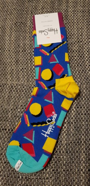 Happy socks Manchetten geel-neon blauw