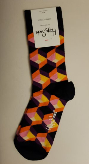 Happy socks Manchetten licht Oranje-donkerpaars