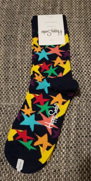 Happy socks Manchetten zwart-geel