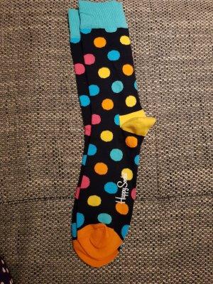 Happy socks Manchetten zwart-lichtblauw