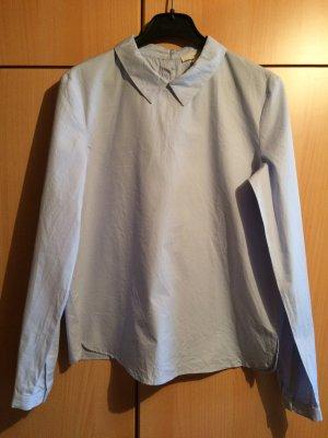 Neue, hellblaue Bluse mit süßem Kragen, Esprit