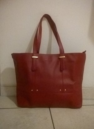 Carry Bag dark red imitation leather