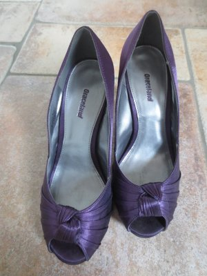 NEUE High Heels in lila, Satin, Gr. 36, Absatz 8 cm