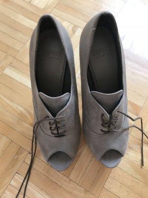 edc by Esprit Tacones con cordones marrón grisáceo