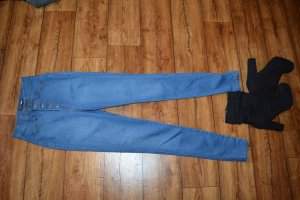 Hoge taille jeans blauw