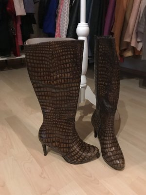 Högl Heel Boots brown-cognac-coloured leather