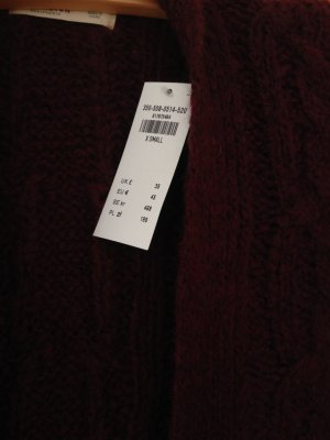 NEUE Hollister Strickjacke, Bordeaux, Größe XS, neu mit Etikett, Cardigan