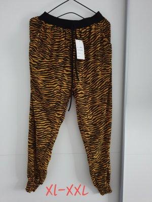 Pantalone bloomers nero-marrone