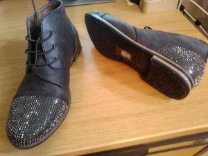 0039 Italy Chaussures à lacets gris ardoise-gris clair matériel synthétique