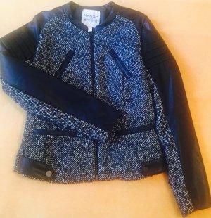 Mango Jacket black-white