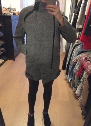 Iro Giacca di lana grigio-nero Lana