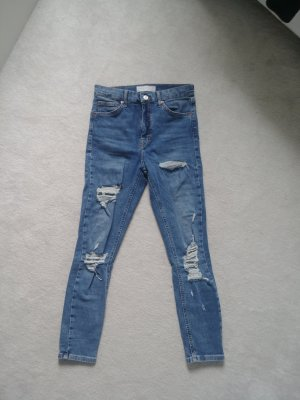 Topshop High Waist Jeans cornflower blue