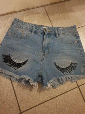 Shorts blu neon-nero
