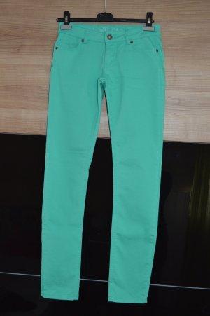 NEUE Jeans farbige Hose türkis grün blau Jeanshose
