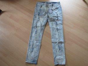 Blue Monkey Stretch Jeans pale blue-slate-gray cotton