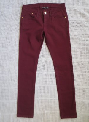 Neue Jeans in bordeaux, Gr. 36/38