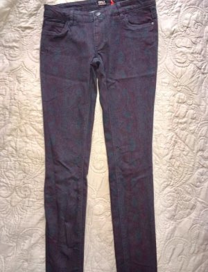 Only Pantalon cigarette multicolore