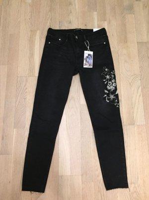 Zara Jeans nero-grigio chiaro