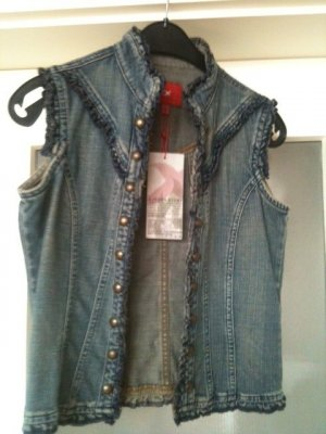 Denim Vest steel blue