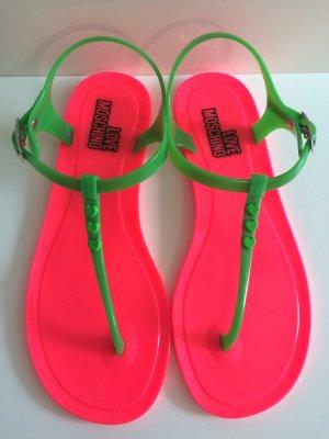 Love Moschino Teenslippers magenta-neon groen