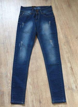 Jeans stretch bleu acier