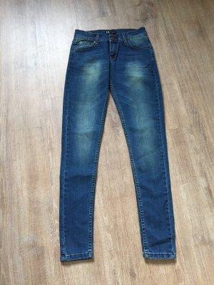Jeans stretch bleuet