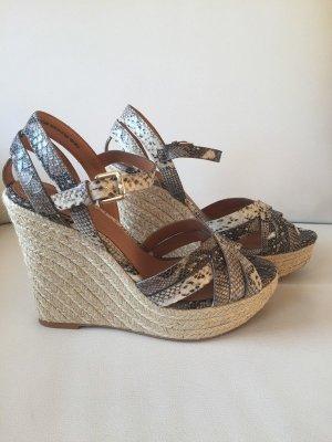 Neue Keilabsatz Sandaletten von H&M   weiß-grau    Gr. 39