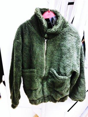 Neue Khaki Teddyfelljacke von ZAFUL