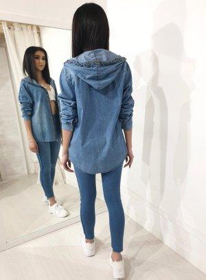 Camicia denim blu Cotone