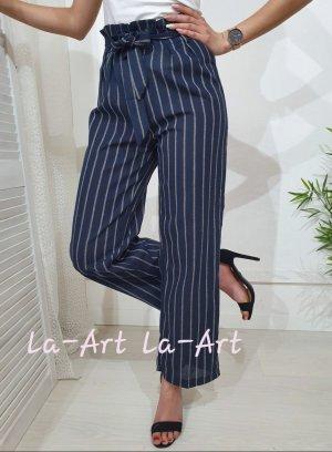 Pantalone a vita alta blu scuro
