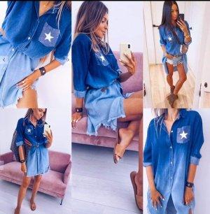 Made in Italy Camisa vaquera azul claro-azul