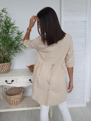 Blusa de túnica beige claro