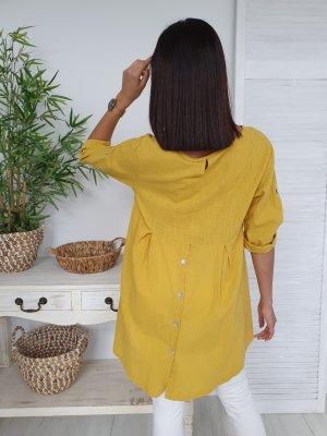 Blusa de túnica amarillo
