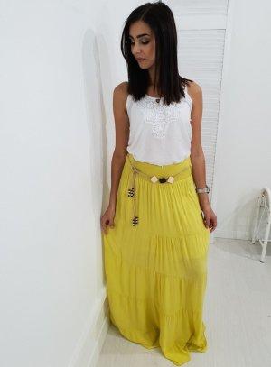 Maxi Skirt lime yellow
