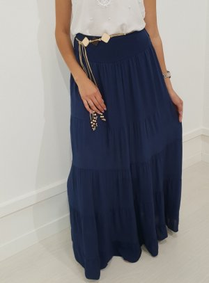 Maxi Skirt dark blue