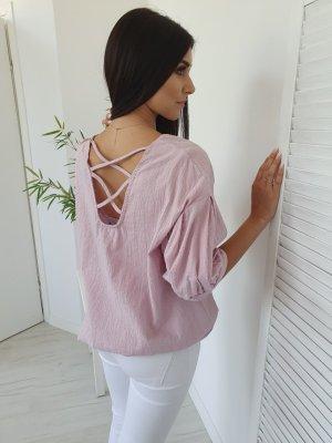 Blusa ancha rosa empolvado-rosa