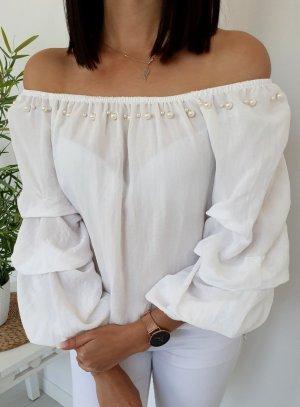 Blusa tipo Carmen blanco
