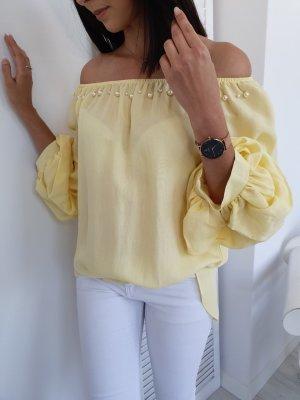 Blusa ancha amarillo claro
