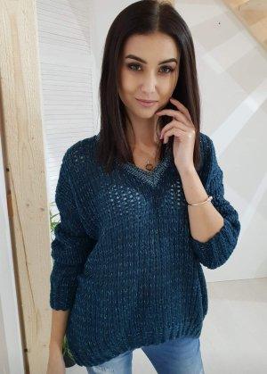Oversized Sweater petrol-cadet blue