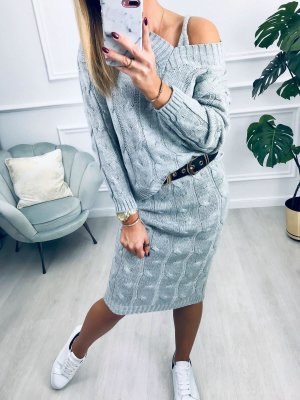 Knitted Twin Set light grey