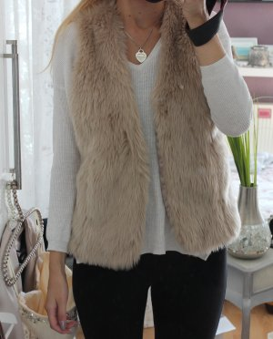 New Look Gilet en fausse fourrure multicolore