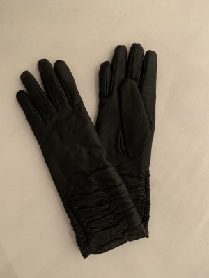 Zara Leather Gloves black imitation leather